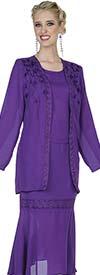 Aussie Austine Christie 680 Double Georgette Skirt Suit With Handkerchief Flounce Hem