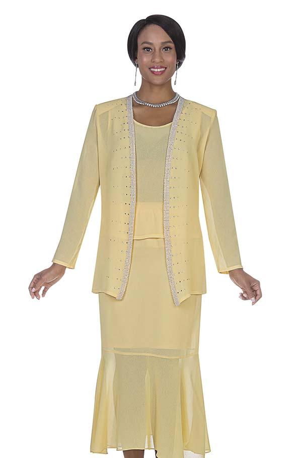 Aussie Austine Christie 667 Double Georgette Womens Suit With Flounce Skirt