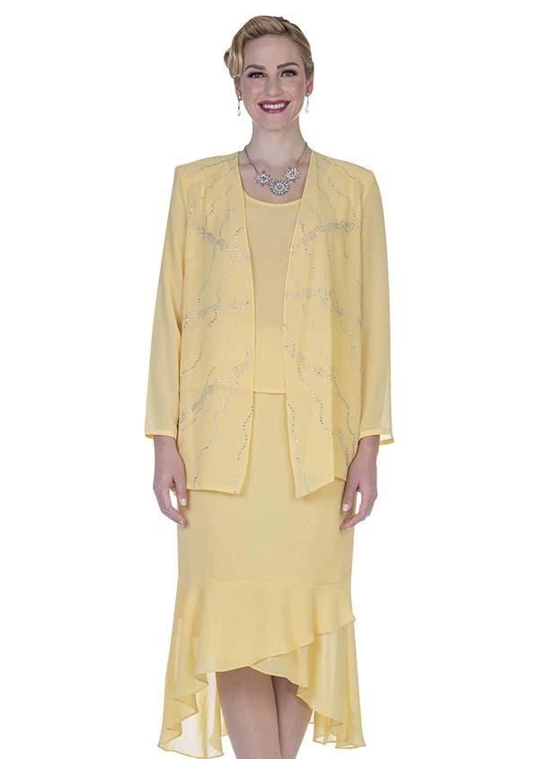 Aussie Austine Christie 669 Double Georgette Rufffle Flounce Hem Skirt Suit
