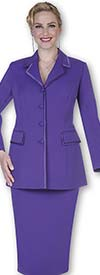 Clearance Aussie Austine 11809-Purple - Size 12 - Usher Suits For Women