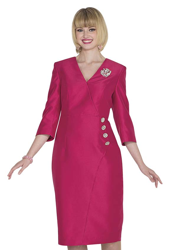 Aussie Austine 1029 Twill Satin Dress With Vee Neckline