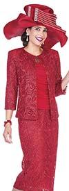 Aussie Austine 5009 Womens Lace Skirt Suit
