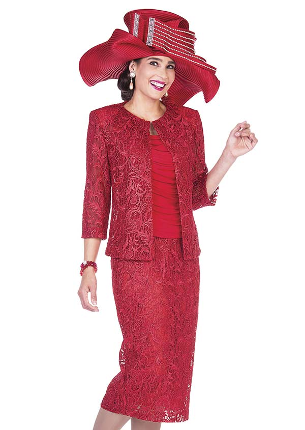 Aussie Austine 5009 Womens Lace Skirt Suit