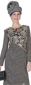 Aussie Austine 5055 Exclusive Knit Fabric Dress With Sequins