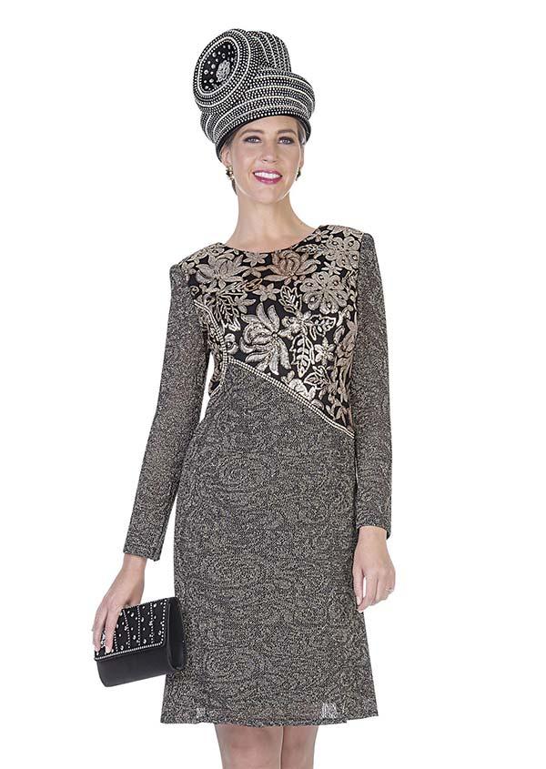 Aussie Austine 5055 Exclusive Knit Fabric Dress With Sequins