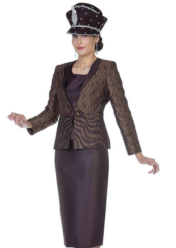 Aussie Austine 5103 Four Piece Twill Satin Womens Suit Wardrober With Novelty Brocade Jacket