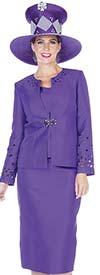 Aussie Austine 5106 Four Piece Twill Satin Womens Suit Wardrober With Embellished Jacket