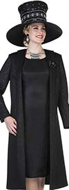 Aussie Austine 5107 Long Coat & Dress In Specialty Brocade Twill Satin Fabric