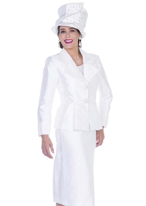 Aussie Austine 5124 Wardrober Set With Pleated Peplum Wing Notch Lapel Jacket