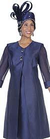 Aussie Austine 5126 Twill Satin Long Jacket & Dress Set