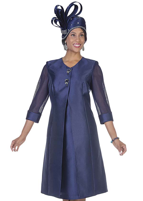 Aussie Austine 5126 Twill Satin Long Jacket & Dress Set