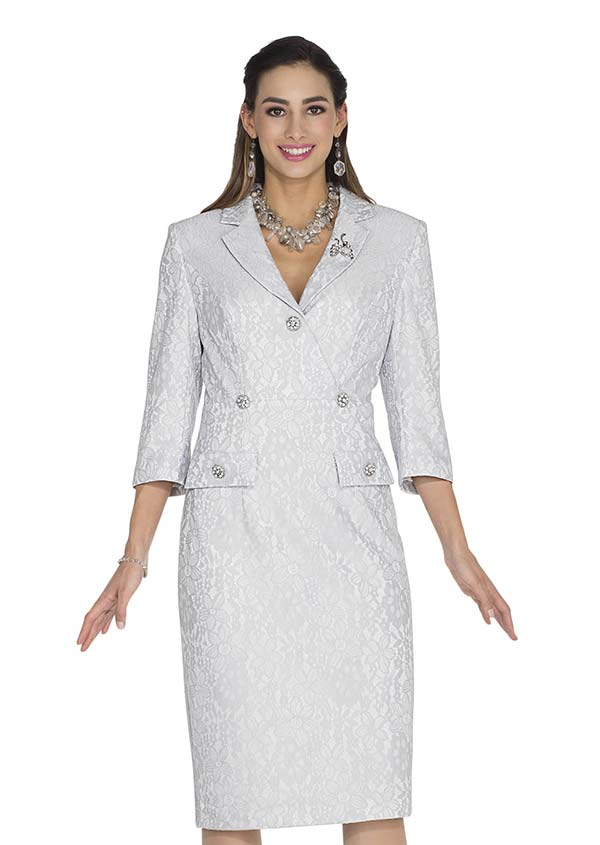 Aussie Austine 1033 Novelty Lace Dress With Notch Lapels