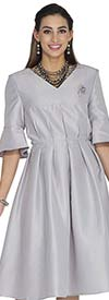Aussie Austine 1031 Twill Satin Pleated Dress
