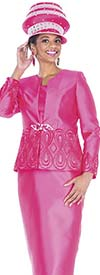 Aussie Austine 5104 Four Piece Twill Satin Womens Suit Wardrober With Novelty Brocade Jacket