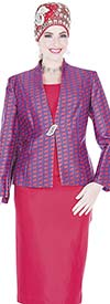 Aussie Austine  5121 Four Piece Twill Womens Suit Wardrober With Print Jacket