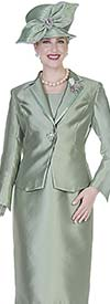 Aussie Austine 5127 Ladies Jacket & Dress Set In Twill Satin Fabric