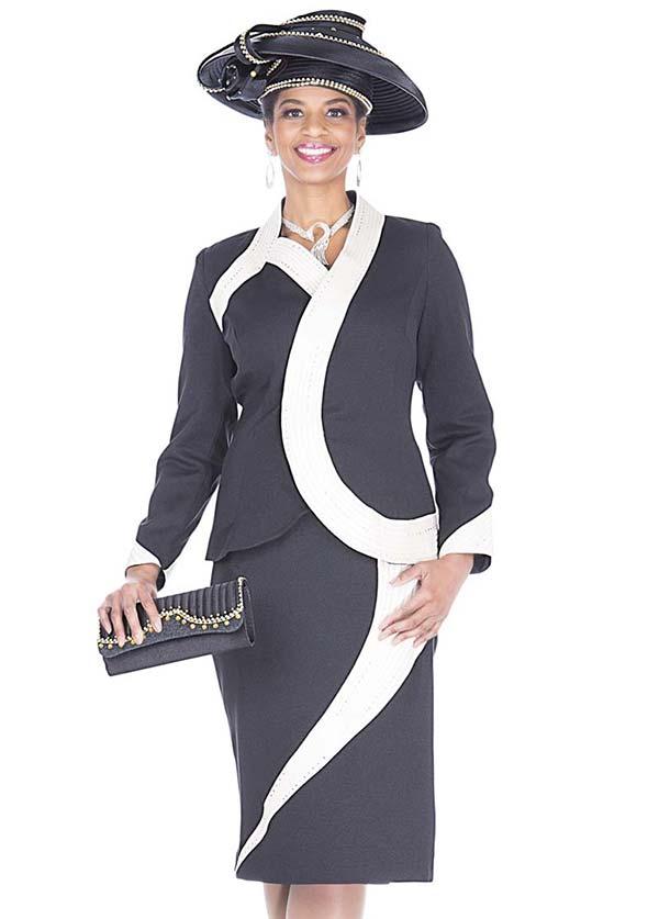 Aussie Austine 5128 Peach Skin Fabric Design Skirt Set With Elegant Trim Design