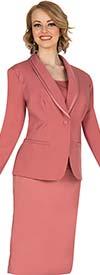 Aussie Austine 839 Pant & Skirt Wardrober Set With Trimmed Shawl Lapel Jacket