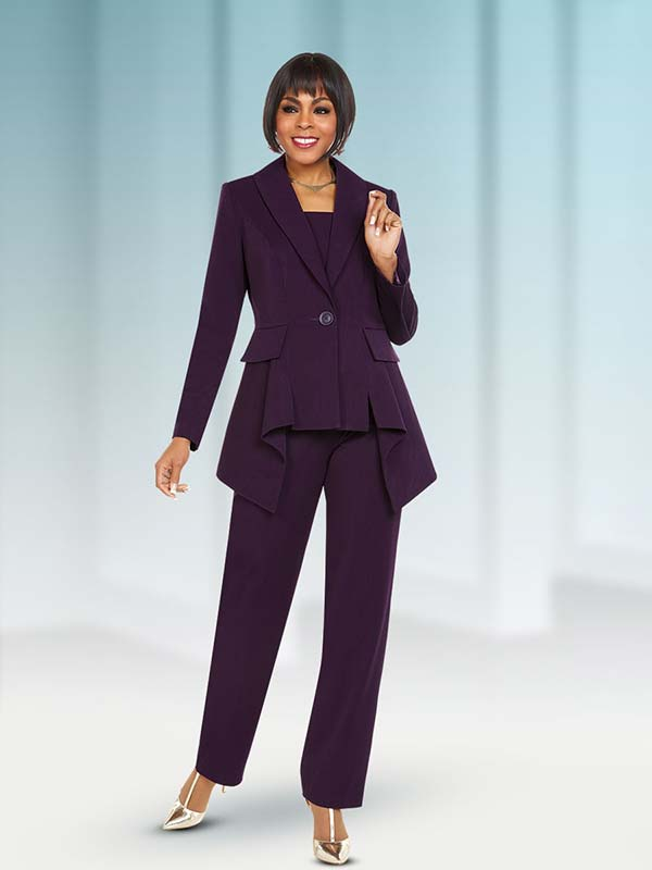 Ben Marc Executive 11699 Womens Pant Suit With Pleated Jacket