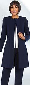 Ben Marc Executive 11700 Womens Career Pant Suit With Long Jacket
