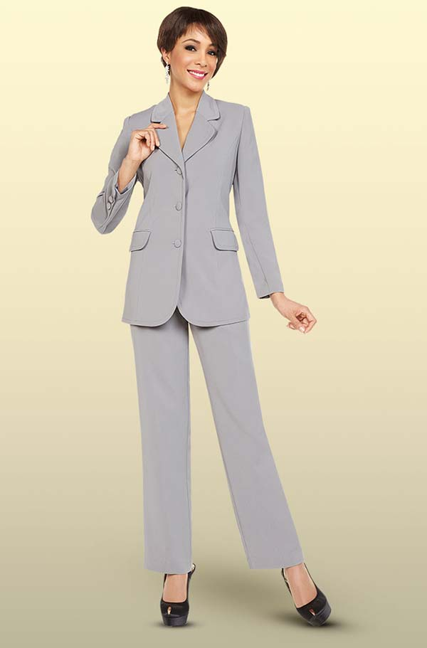 Ben Marc Executive 11701 Womens Business Pant Suit With Rounded Notch Lapels