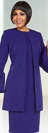 Ben Marc Executive 11703 Dress Suit With Long Jacket & Bell Cuff Sleeves