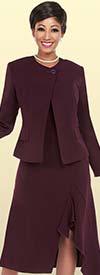 Ben Marc Executive 11704 Dress Suit With Asymmetric Hemline
