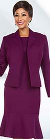 Ben Marc Executive 11705 Business Dress Suit With Flounce Hemline