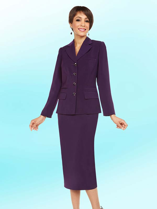 Ben Marc Executive 11709 Womens Business Skirt Suit With Notch Lapel