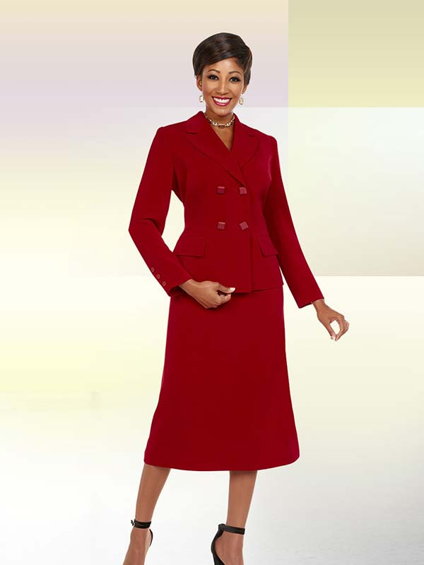 Ben Marc Executive 11713 Womens Business Skirt Suit With Double Breasted Jacket