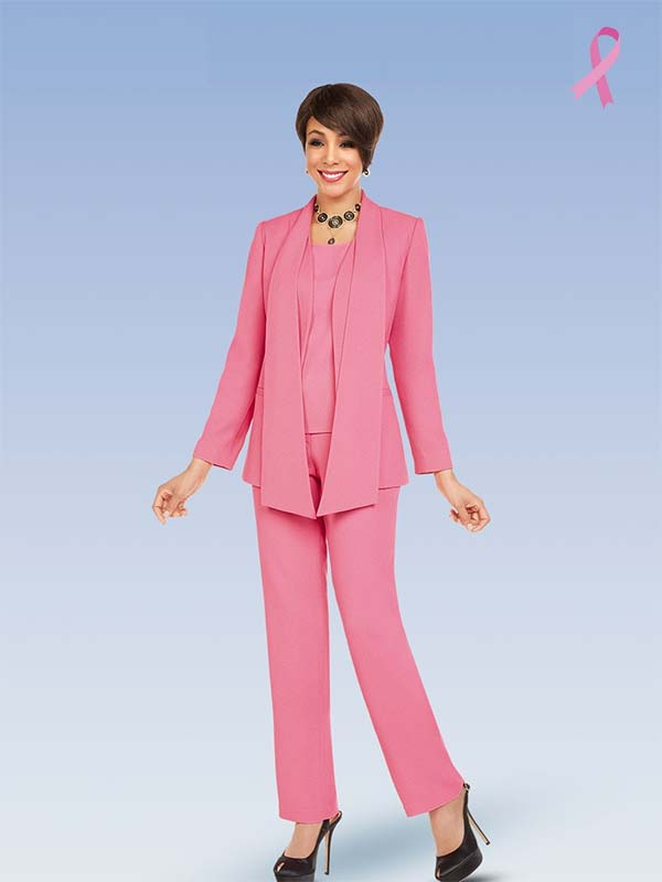 Ben Marc Executive 11719 Womens Career Pant Suit With Cascading Lapels