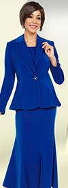 Ben Marc Executive 11720 Flared Skirt Suit With Notch Lapels