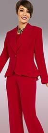 Ben Marc Executive 11721 Womens Career Pant Suit With Notch Lapel Peplum Jacket