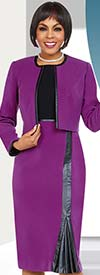 Ben Marc Executive 11724 Business Skirt Suit With Pleated Inset