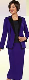 Ben Marc Executive 11725 Dual Color Womens Career Skirt Suit
