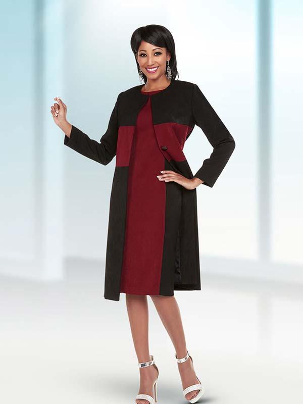 Ben Marc Executive 11726 Dual Color Womens Career Dress Suit With Long Jacket