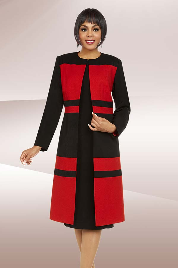 Ben Marc Executive 11727 Color Block Business Dress Suit With Long Jacket