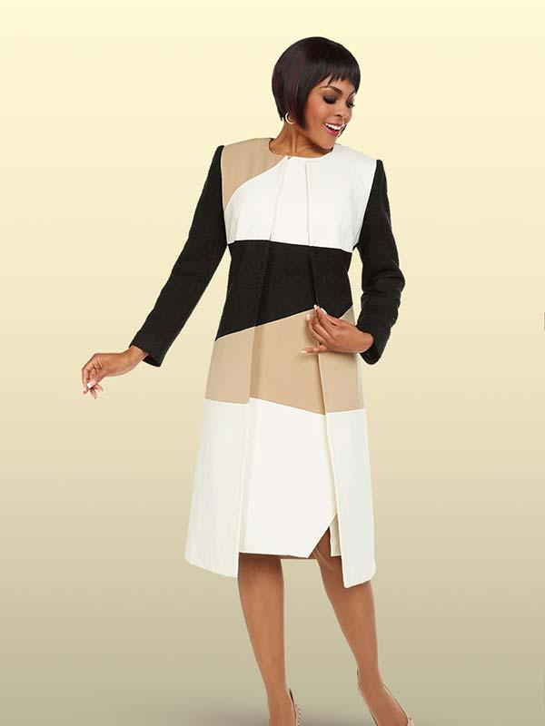 Ben Marc Executive 11728 Asymmetric Color Block Womens Dress Suit
