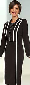 Ben Marc Executive 11730 Ladies Business Dress Suit With Stripe Design
