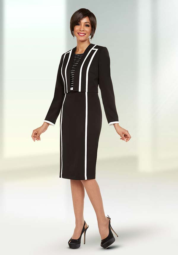Ben Marc Executive 11730 Ladies Business Dress Suit With Stripe Design