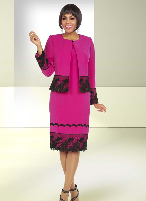 Ben Marc Executive 11733 Career Dress Suit With Lace Detail