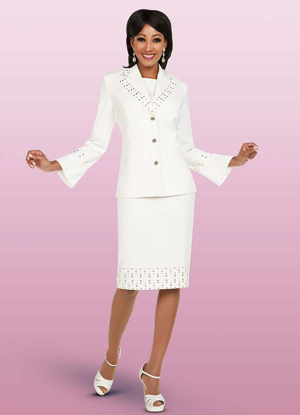 Ben Marc Executive 11737 Womens Business Dress & Jacket With Embellished Trim