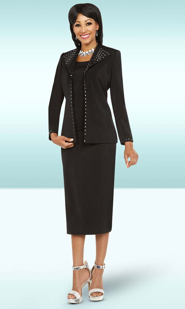 Ben Marc Executive 11740 Embellished Womens Suit With Wing Lapel
