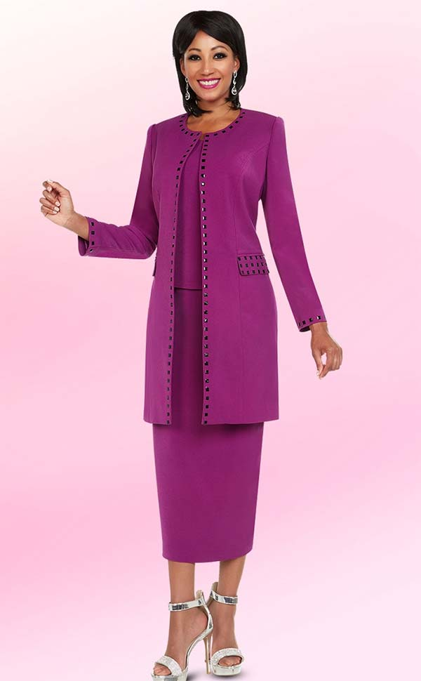 Ben Marc Executive 11741 Embellished Womens Suit With Long Jacket