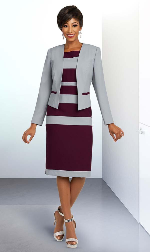 Ben Marc Executive 11801 Womens Striped Design Business Dress & Jacket Suit