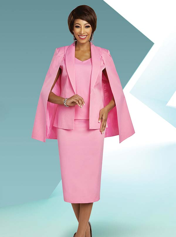 Ben Marc Executive 11803 Womens Business Suit With Skirt And Shawl Lapel Cape Jacket