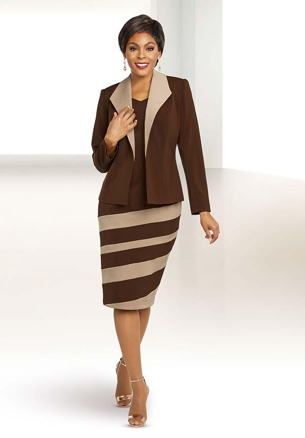 Ben Marc Executive 11804 Womens Striped Design Business Dress Suit With Diamond Lapel Jacket