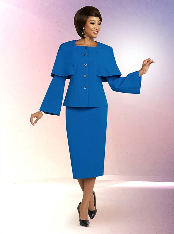 Ben Marc Executive 11807 Skirt Suit Including Square Neckline Jacket With Caped Sleeve Design
