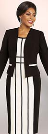 Ben Marc Executive 11814 Womens Striped Dress Suit With Jacket