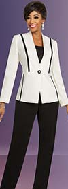 Ben Marc Executive 11819 Womens Wardrober Suit Set With Contrasting Pants & Matching Skirt